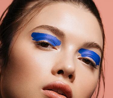 Blue Paint Eye Makeup
